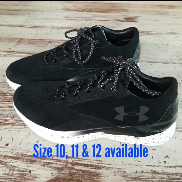 online retailer 6c755 9b84a Under Armour Curry 1 Lux Low Suede Black